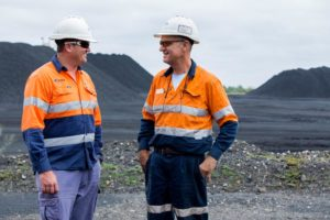 workers talking onsite